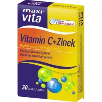 MAXI VITA VITAMIN C+ZINC (Zn) 2X30TB