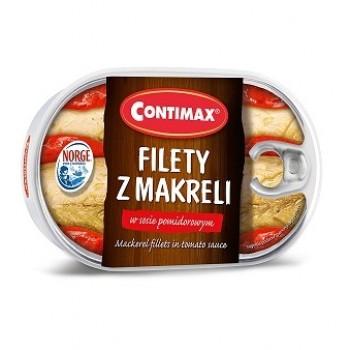CONTIMAX FILETY Z MAKRELI W SOSIE POMIDOROWYM 15X170G