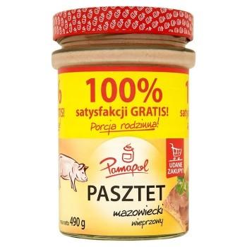 PAMAPOL PASZTET MAZOWIECKI 4X490G