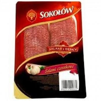 SOKOLOW GARLIC SALAMI 12X100G