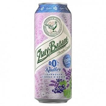 ZLATY BAZANT RADLER LAVANDER AND BLACK CURRANT  0.0% ALC. 6X500ML